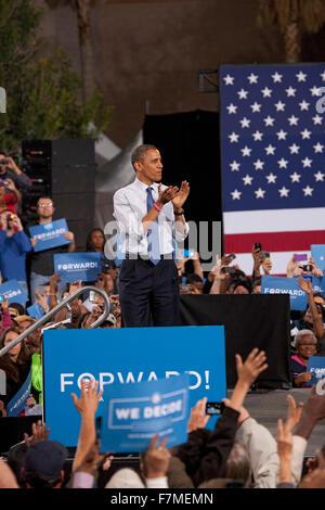 President Barack Obama at Presidential Campaign Rally, October 24, 2012, Doolittle Park, Las Vegas, Nevada - Stock Photo