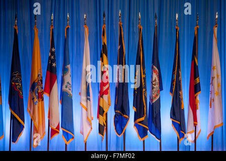 US State Flags at the National Guard Association in Reno, Nevada, 9/11/12 - Stock Photo