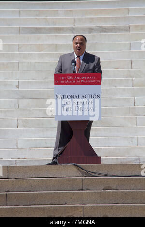 The National Action to Realize the Dream march and rally for the 50th Anniversary of the march on Washington and - Stock Photo