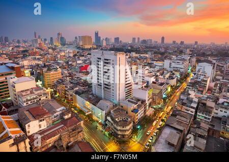 Thailand - Bangkok cityscape at sunset, Bangkok