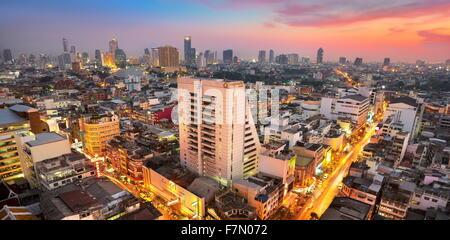 Thailand - Bangkok cityscape at sunset