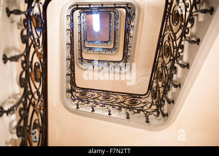 Spiral staircase, low angle view - Stock Photo