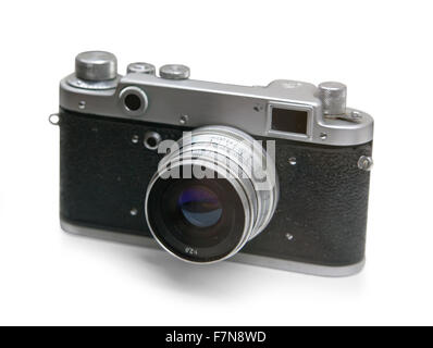 the old russian analog camera for film - Stock Photo