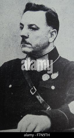 Photograph of Marshal Kliment Yefremovich Voroshilov (1881-1969) a Soviet military officer and politician. Dated - Stock Photo