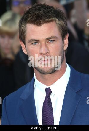 Apr 21, 2015 - London, England, UK - Chris Hemsworth attending The Avengers: Age Of Ultron European Premiere, Vue - Stock Photo