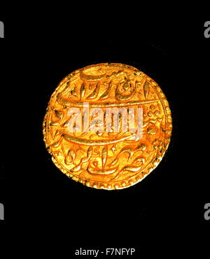 Safavid Dynasty, Persian silver coin; Isfahan (Iran), 1697-8. The Safavid kings (1501-1722) issued coins with reference - Stock Photo