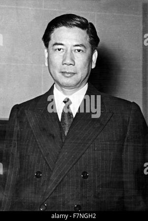 Photograph of Ngo Dinh Diem (1901-1963) first president of South Vietnam. Dated 1962 - Stock Photo