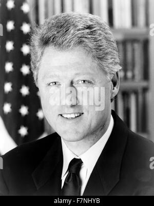 William Jefferson 'Bill' Clinton (born 1946) American politician and between 1993 to 2001 President of the United - Stock Photo