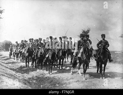 First World War Russian imperial cavalry 1914 - Stock Photo