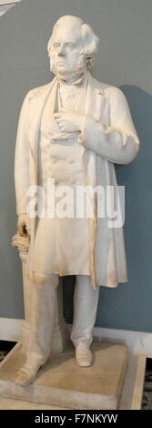 Marble statue of the Right honourable John Bright, MP (1811-1889) by Bruce A Joy (1842-1924) Irish sculptor working - Stock Photo
