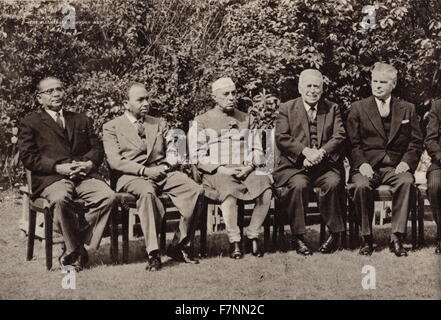 U.K. Commonwealth Prime Ministers' Conference 1960. This was the ninth conference since World War Two and aimed - Stock Photo