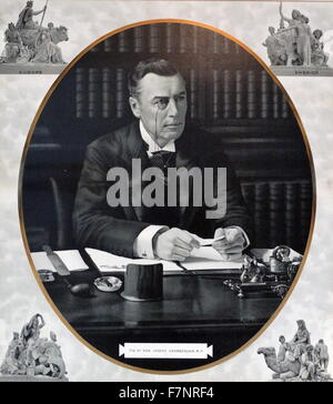 The Right Honourable Joseph Chamberlain (1836-1914) British politician and statesman. Dated 1900 - Stock Photo