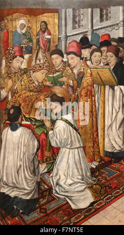 Tables Altar of Saint Vincent by Jaume Huguet (1412-1492) Catalan painter. Dated 15th Century - Stock Photo