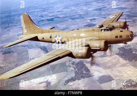 World War two, B-17E Flying Fortress bomber aircraft - Stock Photo