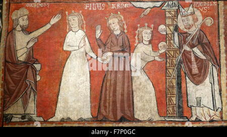 Scenes from the life of St. Nicholas by Second Master of Bierge. Dated 13th Century - Stock Photo