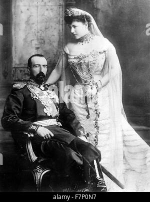 Grand Duke Michael Mikhailovich of Russia (1861-1929) and his wife Countess Sophie of Merenberg, Countess de Torbay - Stock Photo