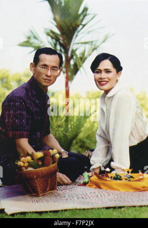 Bhumibol Adulyadej (born 1927), King of Thailand. He is also known as Rama IX, as he is the ninth monarch of the - Stock Photo