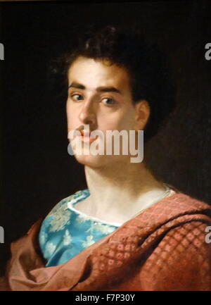 Self-Portrait by Marià Fortuny (1838-1874) Catalan painter. Dated 1873 - Stock Photo