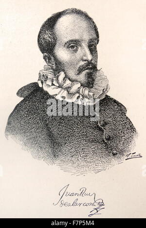 Juan Ruiz de Alarcón (1581? - August 4, 1639) was a Novo Hispanic writer of the Golden Age who cultivated different - Stock Photo