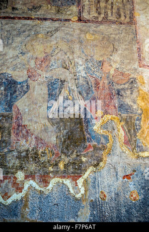 Mural painting in church of the dormition 12th century for Church mural painting