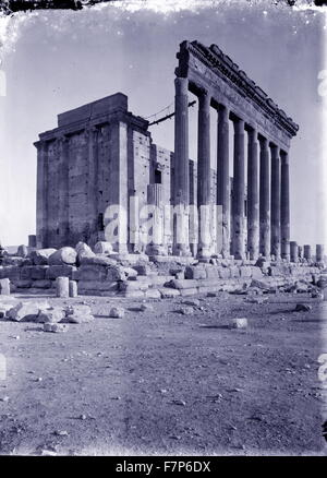 Palmyra, Syria 1900. Palmyra is an ancient city in present Homs Governorate, Syria. Temple built after its incorporation - Stock Photo