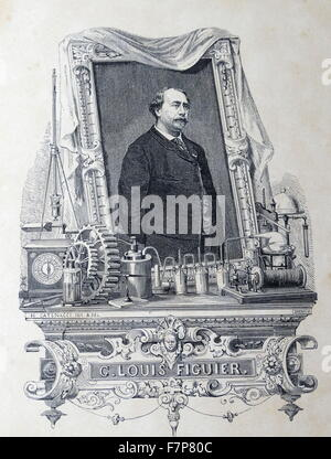 Louis FIGUIER - 1819-1894 French author who wrote prolifically on modern science, technology, industry, and naval - Stock Photo