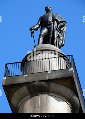 statue of the Duke of York, by Sir Richard Westmacott on top of the Duke of York Column; monument in London, England, - Stock Photo