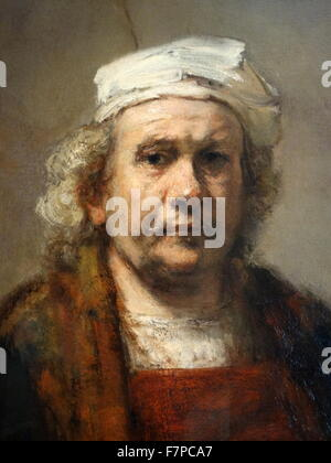 Portrait of Rembrandt Harmenszoon van Rijn (1606-1669) Dutch painter and etcher. Dated 17th Century - Stock Photo