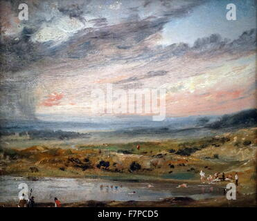 Painting by John Constable (1776-1837) English Romantic painter. Dated 19th Century - Stock Photo