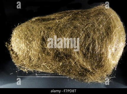 Pele's hair named after the Hawaiian goddess of volcanoes. From Hawaii - Stock Photo