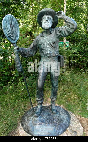 Statue of Alfred Russel Wallace (1823-1913) Victorian naturalist. Dated 2013 - Stock Photo