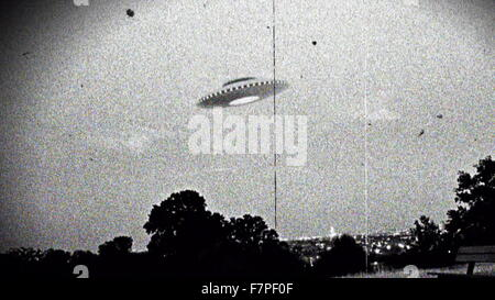 Photograph of the supposed Westall UFO encounter where more than 200 students and teachers at two Victorian state - Stock Photo