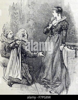 Lady Jane Grey (1536 – 1554), English noblewoman and de facto monarch of England from 10 July until 19 July 1553. - Stock Photo
