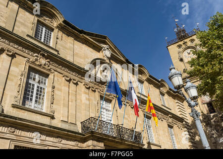 Fountain And Town Hall Or Hotel De Ville In Peronne