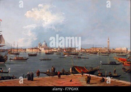 Venice: the Bacino di San Marco from San Giorgio Maggiore by Canaletto - Stock Photo