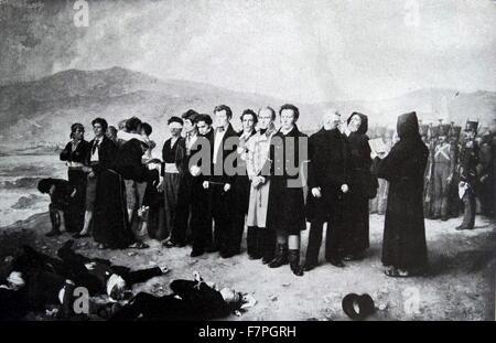 General José María Torrijos (1791 - 1831). on December 11 1831, Torrijos and 48 of his collaborators, were shot - Stock Photo