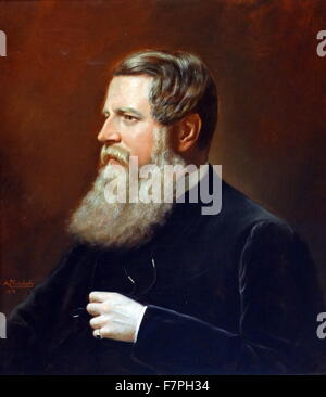 Portrait of Stafford Northcote, 1st Earl of Iddesleigh (1818-1887) British Conservative politician. Dated 19th Century - Stock Photo