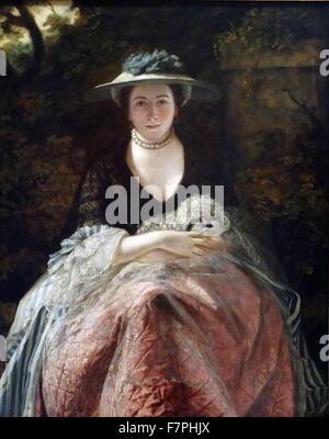 Portrait of Mrs Carnac by Sir Joshua Reynolds (1723-1792) English portrait painter. Dated 18th Century - Stock Photo