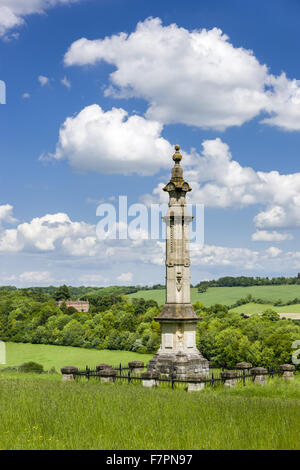 The Monument to Isaac Disraeli, father of Benjamin, at Hughenden, Buckinghamshire. Hughenden was the home of the - Stock Photo