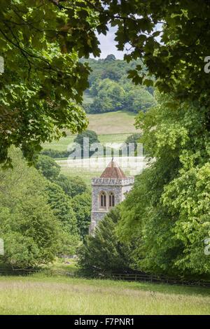 St Michael & All Angels Church, Hughenden, Buckinghamshire. Victorian Prime Minister Benjamin Disraeli is buried - Stock Photo