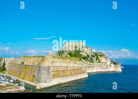 Old Fortress, with Martinengo rampart in front, Corfu town, Ionian islands, Greece - Stock Photo