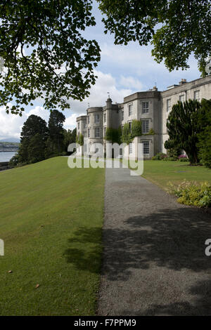 View of the exterior of the house at Plas Newydd Country House and Gardens, Anglesey, Wales. This fine 18th century - Stock Photo