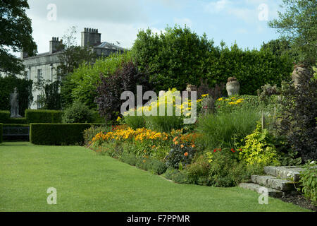The house seen from the garden at Plas Newydd Country House and Gardens, Anglesey, Wales. This fine 18th century - Stock Photo