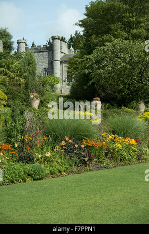 The stables seen from the garden at Plas Newydd Country House and Gardens, Anglesey, Wales. This fine 18th century - Stock Photo