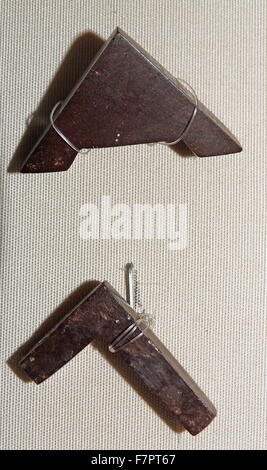Plumb Bob and Set Square, symbols of accuracy and trueness, from ancient Egypt. - Stock Photo