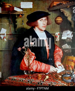 George Gisze 1532 by Hans Holbein the Younger (c. 1497 – 1543);German and Swiss artist and printmaker - Stock Photo