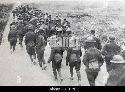 British prisoners of war captured by German forces, during World war One 1915 - Stock Photo