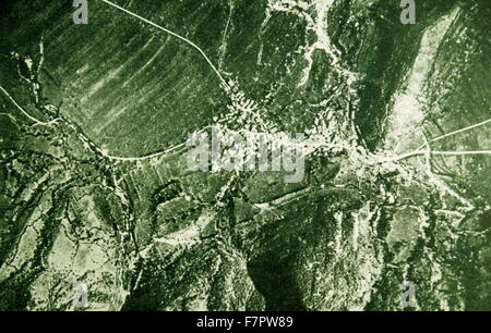 battle trenches for Italian troops on the Italian-Austrian front 1915;World War One - Stock Photo