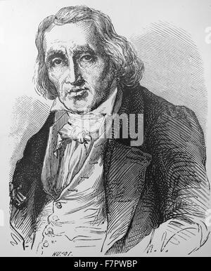 Joseph-Marie JACQUARD - 1752-1834 from Louis Figuier Lee Grandes Inventions , Paris, 1863 - Stock Photo