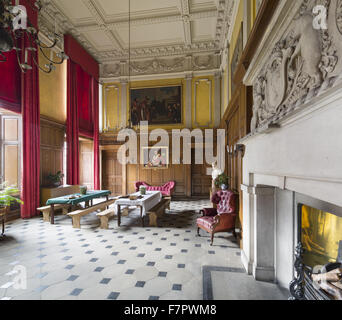 Recreation of the Stamford Military Hospital refectory, in The Great Hall at Dunham Massey, Cheshire. During the - Stock Photo
